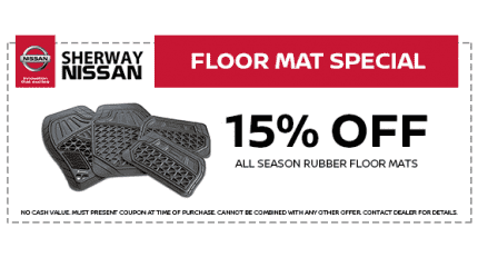 15% Off Rubber All Season Mats