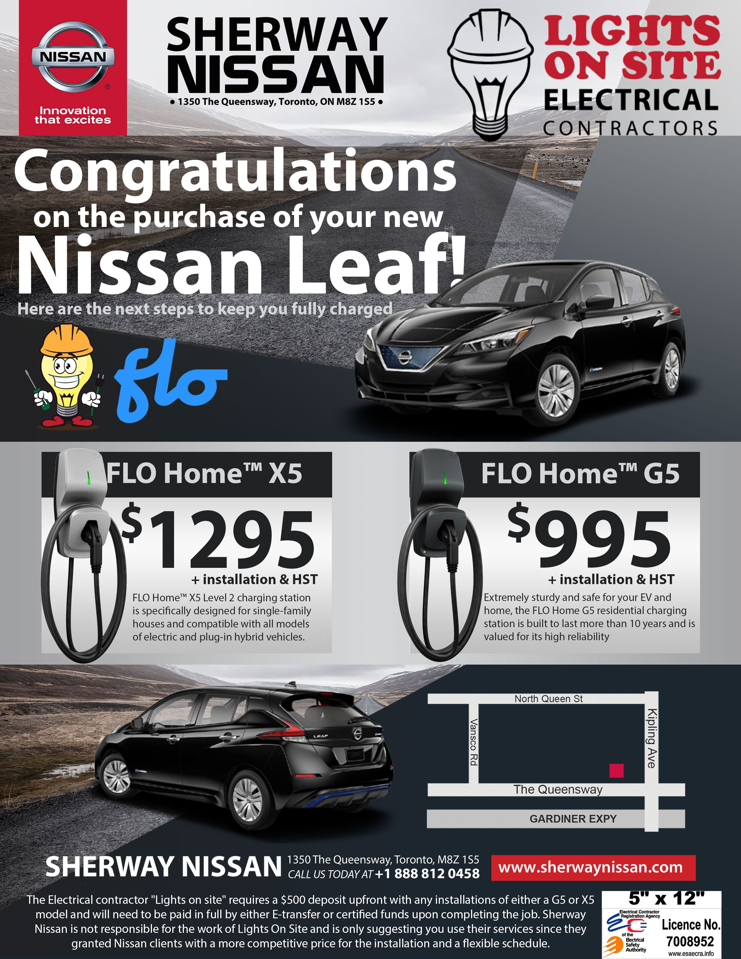SherwayNissan-LeafCharger-Poster